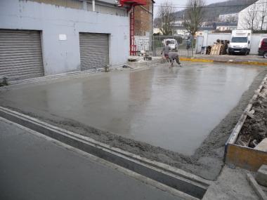 Des professionnels du terrassement
